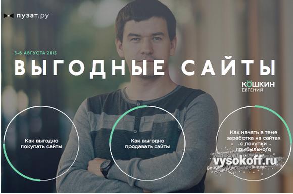 «Выгодные сайты» от Кошкина