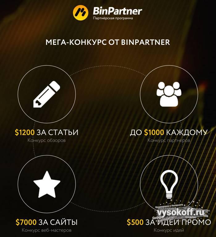 Конкурс от партнерской программы Binpartner