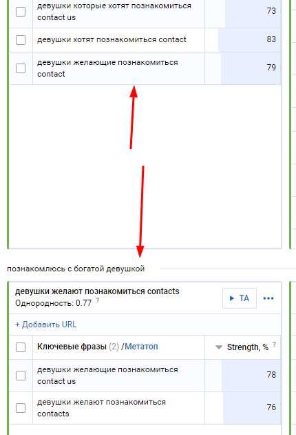 Кластеризация SerpStat - шлак-группа